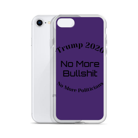 Trump No More Bullshit Purple iPhone Case-iPhone Case-Freedom Wear 1776
