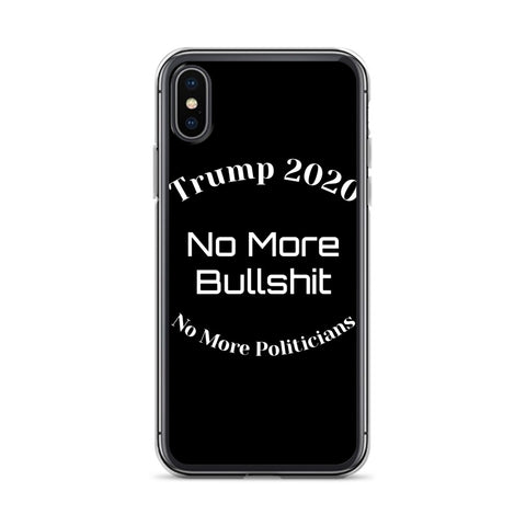 Trump No More Bullshit Black iPhone Case-iPhone Case-Freedom Wear 1776
