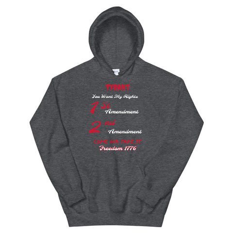 1st 2nd Amendment Hoodie-Hoodie-Freedom Wear 1776