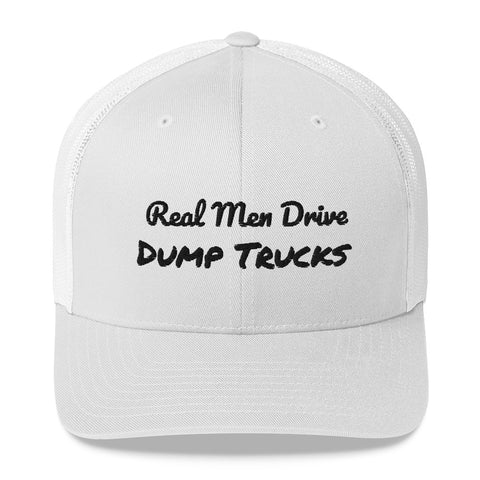 Real Men Drive Dump Trucks Trucker Cap-hat-Freedom Wear 1776