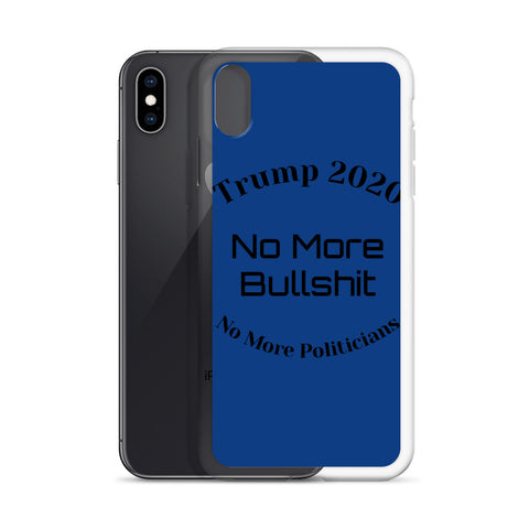 Trump No More Bullshit Blue iPhone Case-iPhone Case-Freedom Wear 1776
