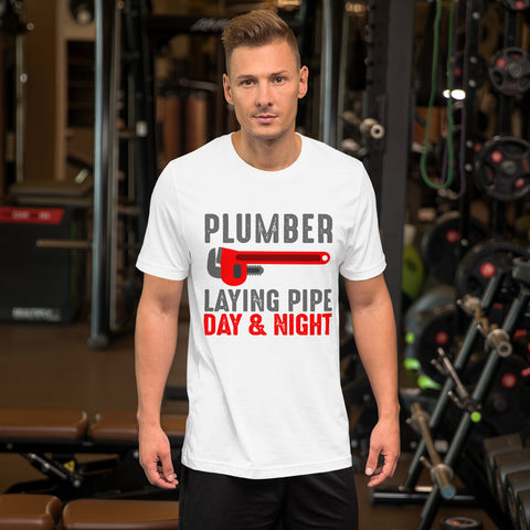 Plumber Laying Pipe Tee Shirt-Tee Shirt-Freedom Wear 1776