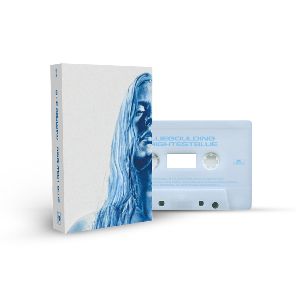 'BRIGHTEST BLUE' FROSTED ICE RECYCLED PLASTIC CASSETTE-Ellie Goulding