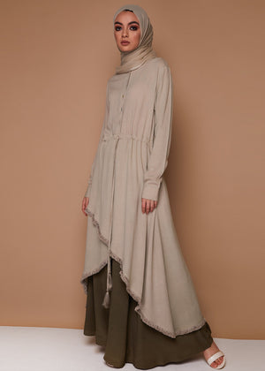 Fringed Edge Midi in Stone by Aab