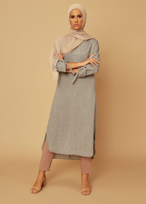 Tunic Top Cotton Chambray