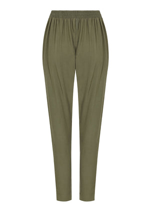 Buttoned Khaki Trousers