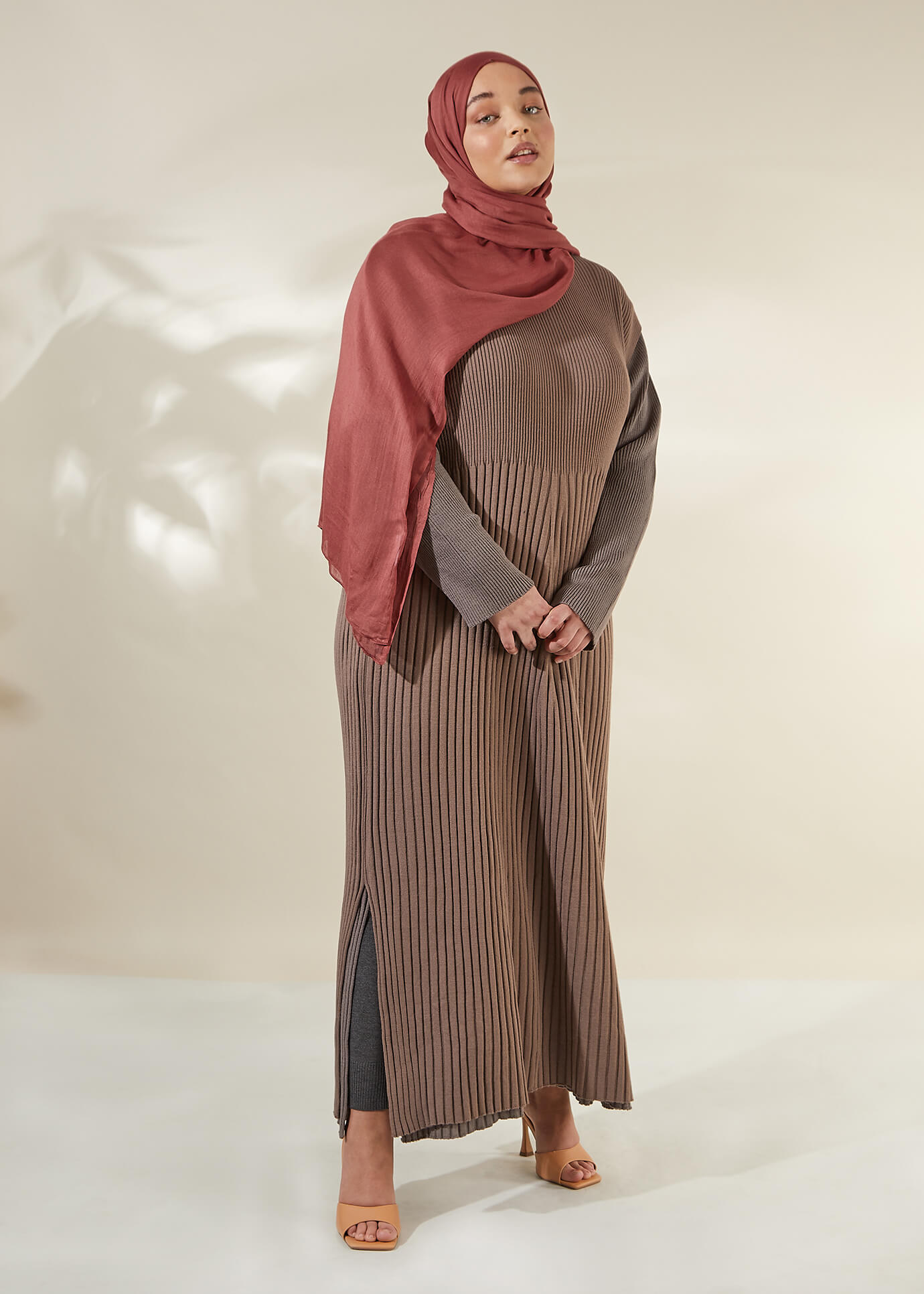 Structured Shirt Maxi Rosewood | Aab Modest Wear - AAB INT
