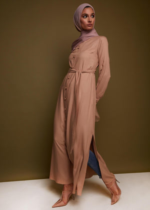 Knot Button Maxi Dress by Aab