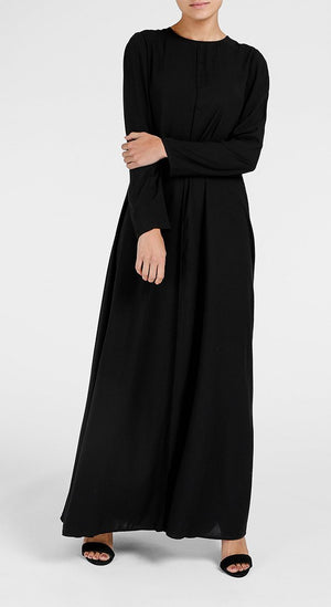 Long Line Abaya Black Aab