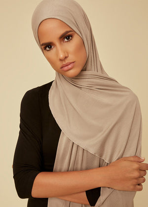 Pewter Jersey Hijab by Aab