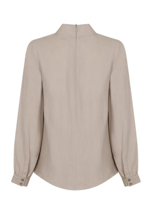 Front Pleat Top Nude