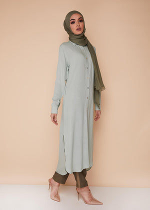 Shirt Dress Mint