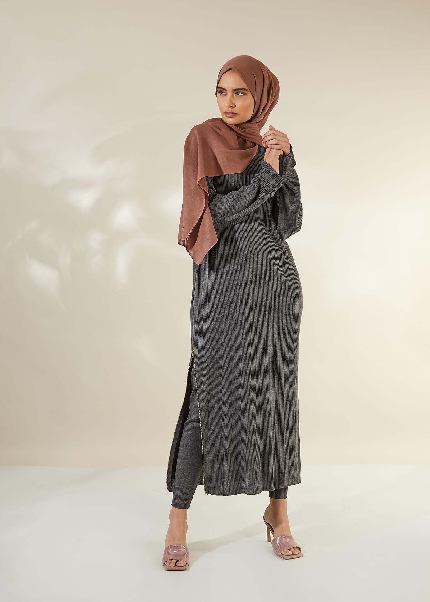 Belted Wrap Midi Olive | Aab Modest Wear - AAB INT