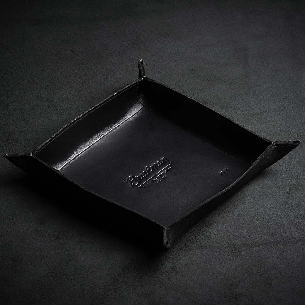 EDC Table Tray - ALL BLACK - BRAVEMAN LEATHER GOODS
