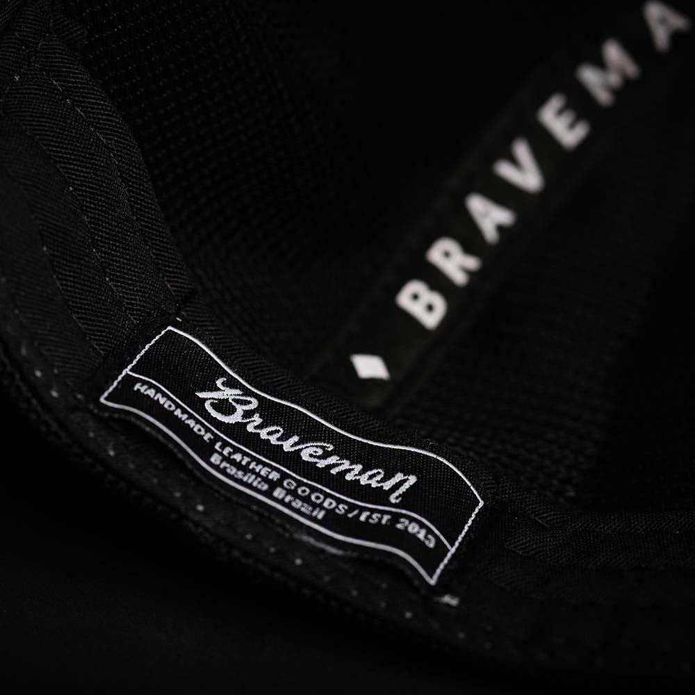 HAT TRUCKER BLACK - BRAVEMAN LEATHER GOODS