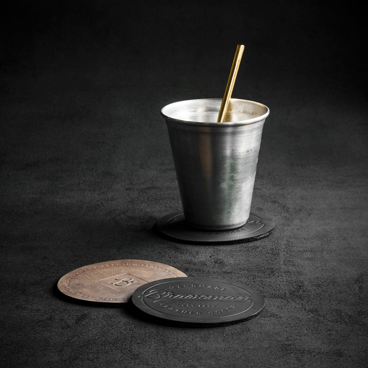 Leather Coaster - BRAVEMAN LEATHER GOODS