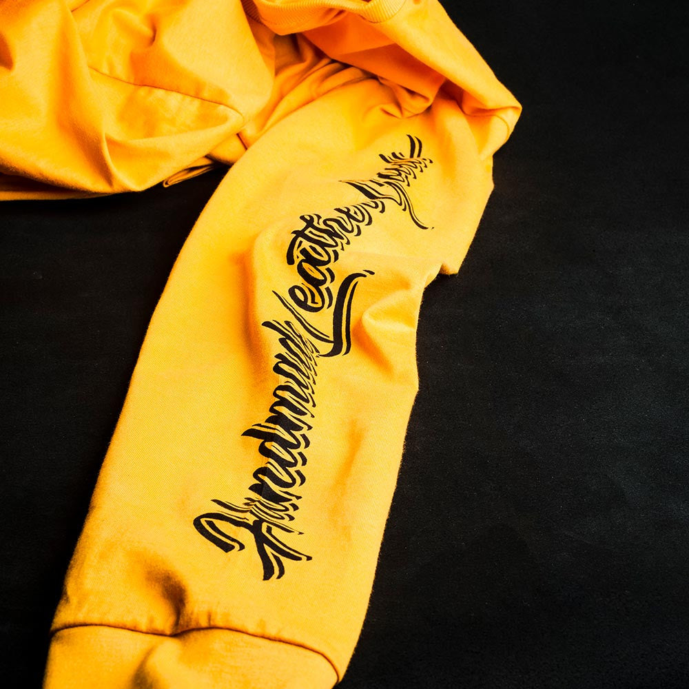 T-SHIRT SIGN PAINTING LONG SLEEVE YELLOW - BRAVEMAN LEATHER GOODS