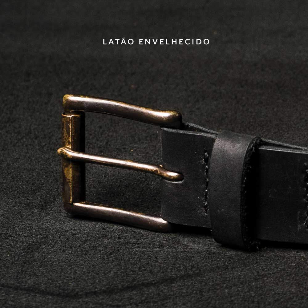 Cinto fino BRAVEMAN - ALLBLACK - BRAVEMAN LEATHER GOODS