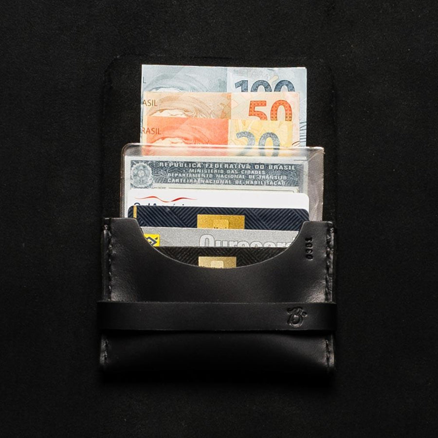 Carteira Double Pocket ALLBLACK - BRAVEMAN LEATHER GOODS