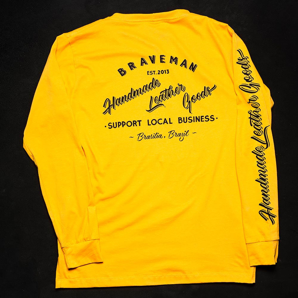 T-SHIRT SIGN PAINTING LONG SLEEVE YELLOW
