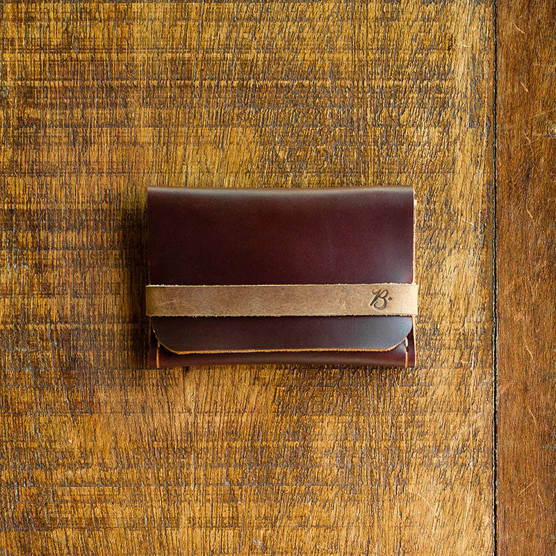 + Single Pocket Wallet BROWN ALE - 99 2016 / LIMITED EDITION - BRAVEMAN LEATHER GOODS