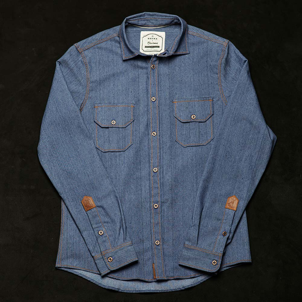 + Camisa DENIM T-BROWN - BRUMA x BRAVEMAN - BRAVEMAN LEATHER GOODS