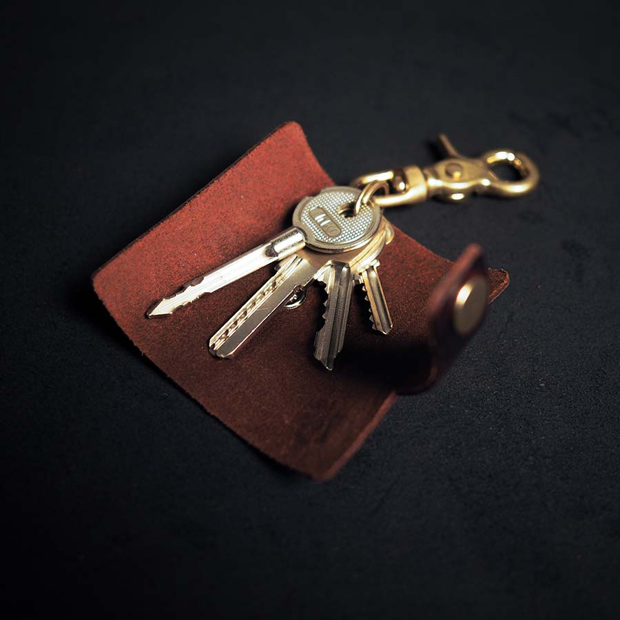 Chaveiro - ROLL KEYCHAIN BLOODY MARY - BRAVEMAN LEATHER GOODS