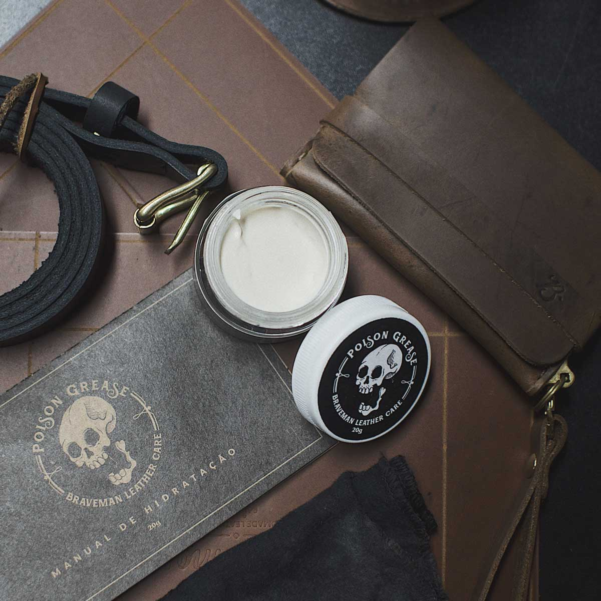 Cera Hidratante Poison Grease - BRAVEMAN LEATHER GOODS