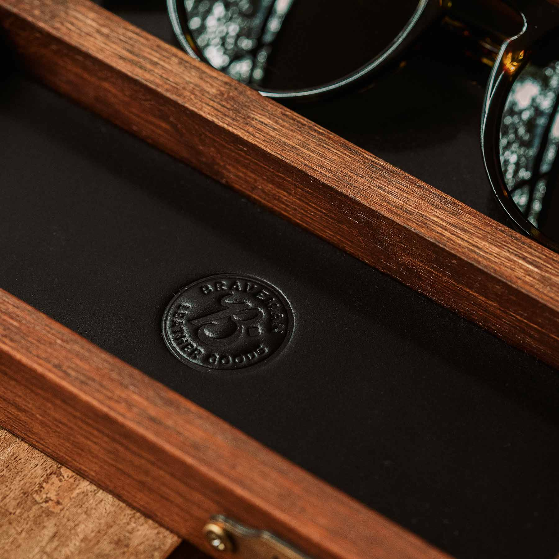 EDC Glasses Tray - Wood - Braveman x Lab Chama