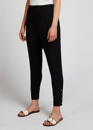 Black Gold Button Trouser Aab