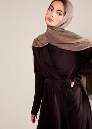 Side Wrap Abaya Coffee