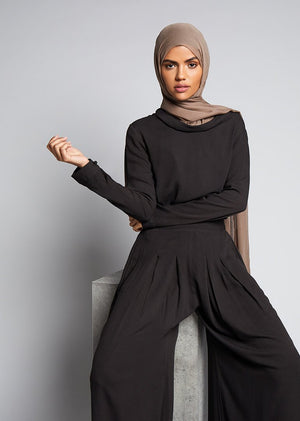 Cowl Top Black