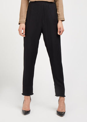 Embroidered Fringed Edge Trouser
