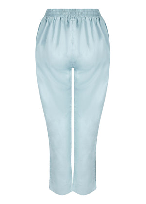 Eyelet Button Trousers in blue by Aab