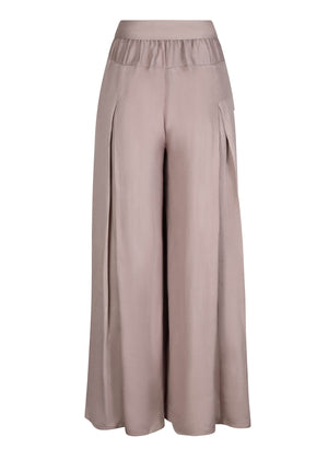 Full Flare Trousers in Taupe by Aab
