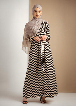 Geometric Maxi Dress Aab