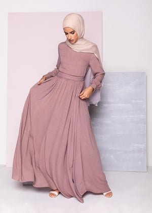 High Neck Abaya Berry Aab