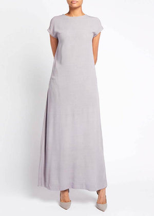 Long Cap Sleeve Slip Mauve