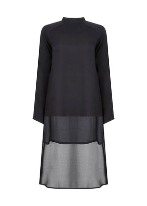 Panelled Midi Black Aab