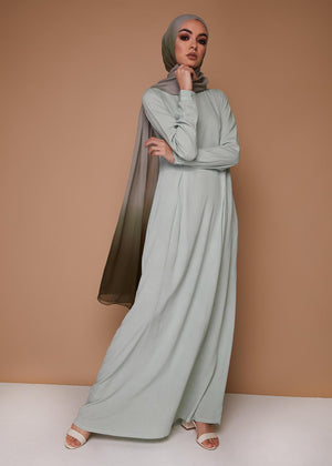 Skirted Abaya in Mint by Aab