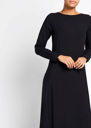 Soft Brushed Abaya Black Aab