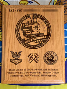 Navy - PCS/ETS Plaque - Pikes Peak Laser Creations