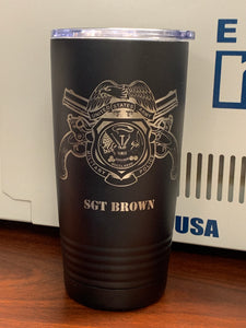 Army - Military Police Tumbler 20oz - Pikes Peak Laser Creations