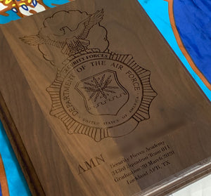 Air Force - Security Forces Badge Plaque - Pikes Peak Laser Creations
