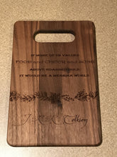 Load image into Gallery viewer, Lord of the Rings - Food and Cheer and Song Above Hoarded Gold - JRR Tolkien Quote Cutting Board - Pikes Peak Laser Creations