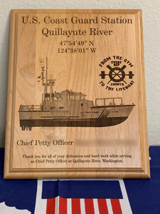 Coast Guard - PCS/ETS Plaque - Pikes Peak Laser Creations