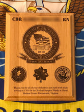 Load image into Gallery viewer, Navy - PCS/ETS Plaque - Pikes Peak Laser Creations