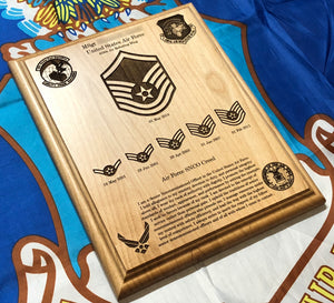 Air Force - Promotion Plaque - Pikes Peak Laser Creations