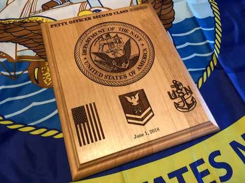 Navy - Emblem/Promotion Plaque - Pikes Peak Laser Creations
