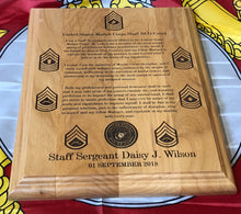 Load image into Gallery viewer, Marine Corps - Staff NCO Creed Plaque - Pikes Peak Laser Creations